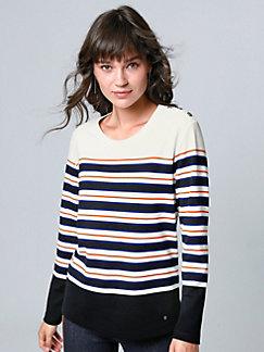 ch LonguesPeterhahn Manches Shirts Brax Femme T wOnPk0