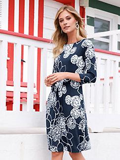 b0630528fdb Efixelle - Jersey-Kleid mit 3 4-Arm