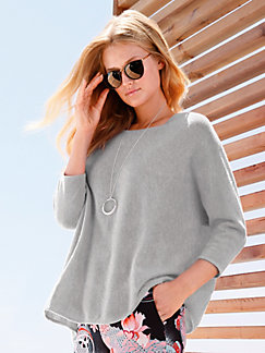 02f4ef98a35b include - Le pull 100% cachemire manches 3 4
