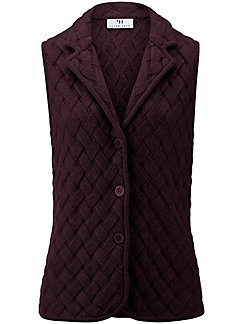 Peter Hahn - Knitted gilet in 100% new milled wool