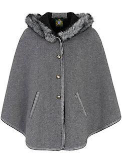 Hammerschmid - La cape en pure laine vierge, poches et capuche