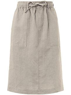 Peter Hahn - La jupe en pur lin, ligne droite, taille élastique