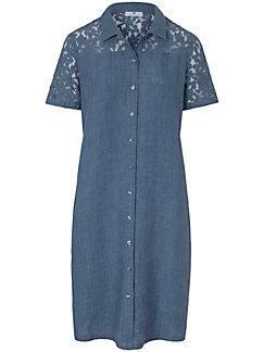 Peter Hahn - La robe boutonnée en pur lin, manches courtes