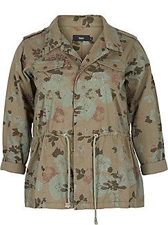 zizzi - La veste décontractée en pur coton, imprimé fleuri