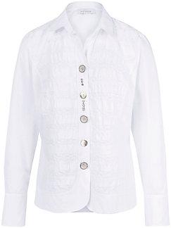Just White - Le chemisier, effet froissé, poignets réversibles