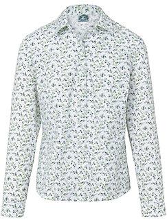 Hammerschmid - Le chemisier imprimé en pur coton, ligne cintrée