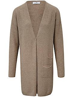 Peter Hahn Cashmere Nature - Le manteau en pur cachemire, décolleté V