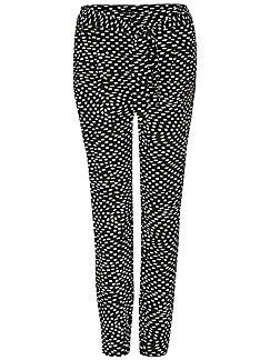 comma, - Le pantalon graphique, ceinture à nouer