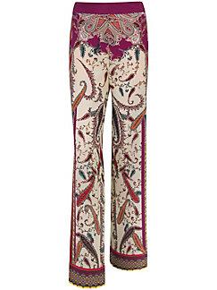 Laura Biagiotti Donna - Le pantalon imprimé en pure soie