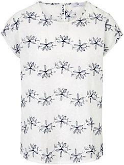 Peter Hahn - Le T-shirt-chemisier imprimé en pur coton