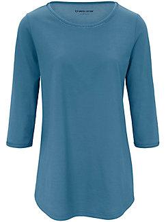 Green Cotton - Le T-shirt uni en pur coton, manches 3/4