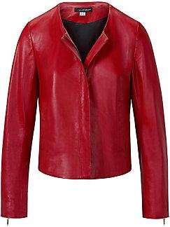 Looxent - Lederjacke aus 100% Leder mit Rundhals-Ausschnitt