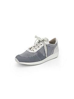 Les sneakers en cuir, motif perforé, modèle OSLO ARA gris