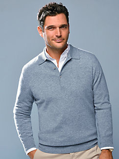 c49cec0a022995 Peter Hahn Cashmere - Polo neck pullover in 100% cashmere design Paul