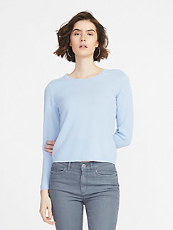 deb08031860 Peter Hahn Cashmere - Round neck jumper in 100% cashmere