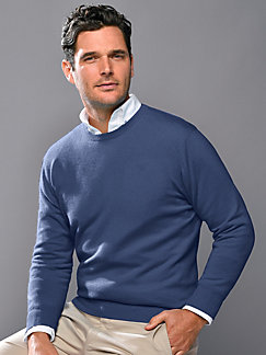 c32c17ce0b3b3f Peter Hahn Cashmere - Round neck pullover in 100% cashmere Ralph