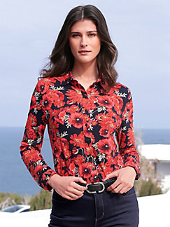 1ae809fb1c8294 Peter Hahn - Jersey blouse with floral print