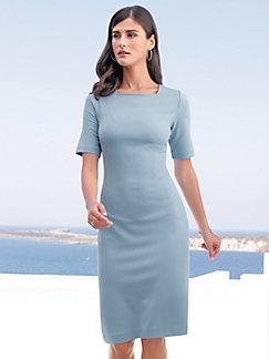 97e6c55e33c95 Peter Hahn - Jersey dress with square neckline