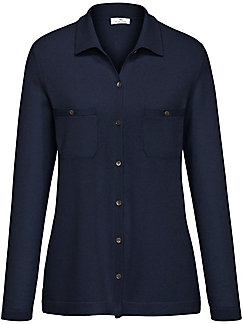 Peter Hahn Cashmere - Polo-collar cardigan in 100% cashmere