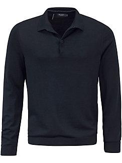 MAERZ Muenchen - Polo-Pullover aus 100% Schurwolle-Merino