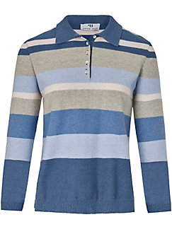 Peter Hahn - Polo-Pullover mit 3/4-Arm