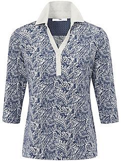 Peter Hahn - Poloshirt med 3/4-lange ærmer