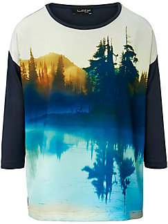 Looxent - Rundhals-Shirt mit 3/4 Arm