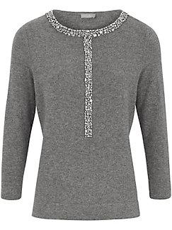 include - Rundhalsad tröja i ren kashmir