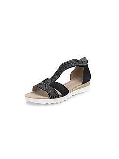 Metallic Sandale Comfort 100Leder Gabor Taupe Aus Pnwk0O