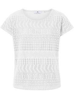 Peter Hahn - Shirt met ronde hals en korte, verbrede mouwen