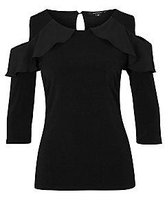 comma, - Shirt mit 3/4-Arm