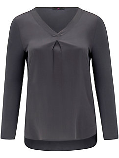 Emilia Lay - Shirt style blouse in 100% silk