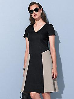 Strenesse - V-ringad klänning med kort ärm 1ae5edd47fdec
