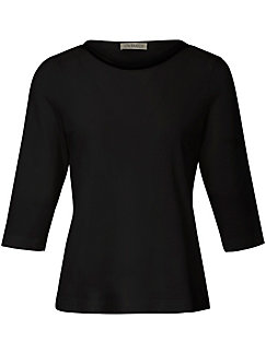 Uta Raasch - T-shirt med bådformet udskæring og fin pyntekæde