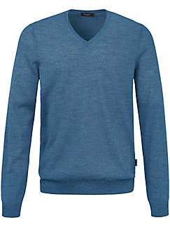Polo neck pullover in 100% new milled wool-merino MAERZ Muenchen blue Maerz Cost Cheap Online Outlet Discount New I94v40v