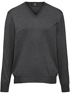 Peter Hahn - V-Pullover aus 100% Schurwolle-Merino extrafein