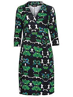 Anna Scholz for sheego - Wraparound dress with 3/4-length sleeves