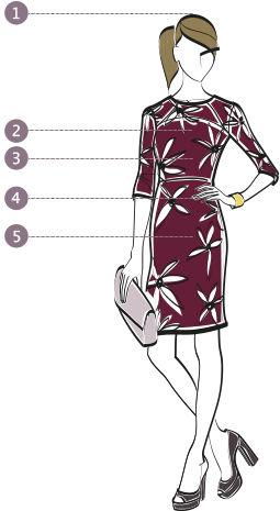 Masstabellen Damen Modell