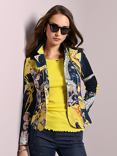 Airfield - Jersey blazer with vibrant print