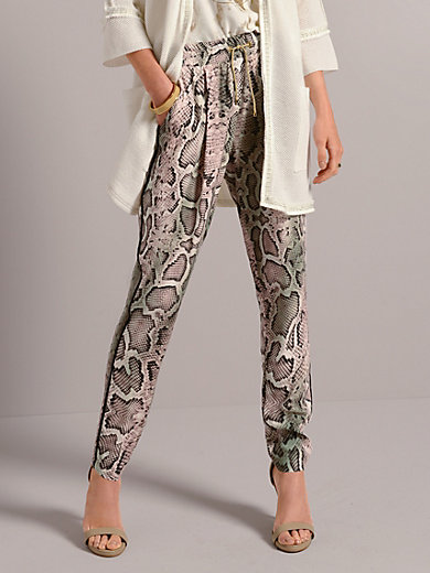Airfield - Trousers in snake print