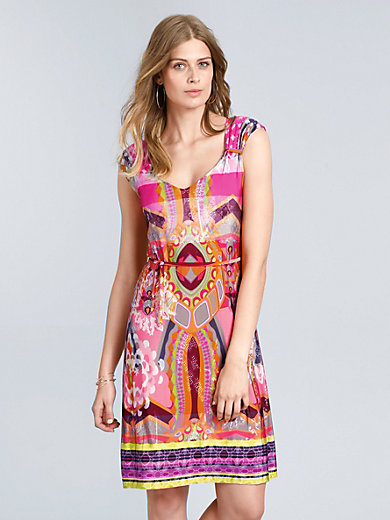 Ana Alcazar - Jersey-kjole med V-udskæring