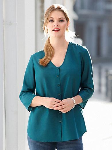 Anna Aura - Bluse med 3-4-lange ærmer og V-udskæring