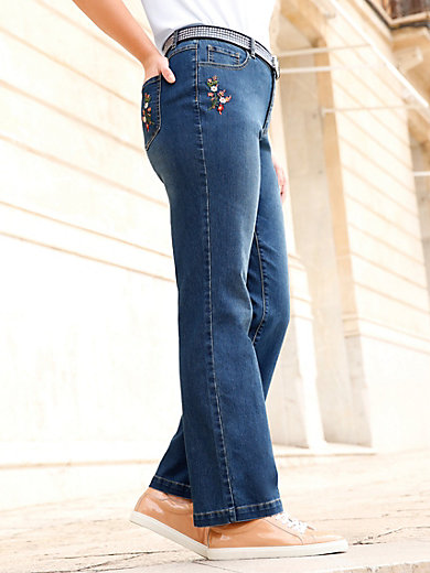 Anna Aura - Jeans mit Blumen-Stickereien an den Taschen