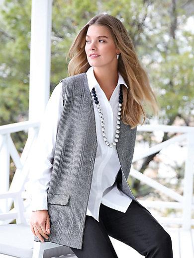 Anna Aura - Knitted waistcoat with herringbone jacquard