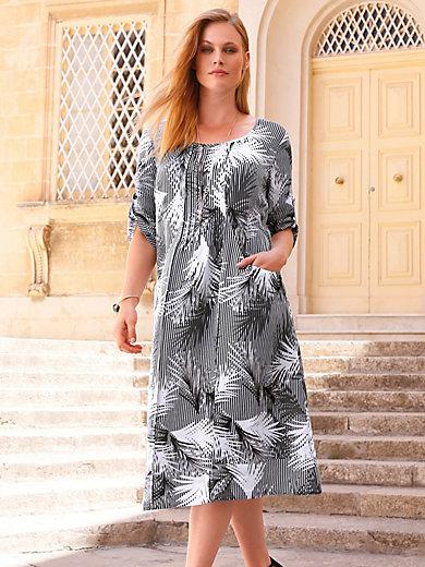 da3659cba05 Anna Aura - La robe 100% lin manches 3 4 - noir blanc