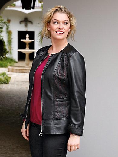 Anna Aura - La veste en cuir d'agneau, col ras-de-cou