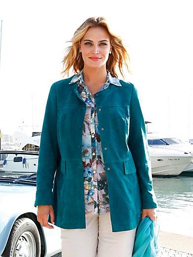 Anna Aura - La veste en cuir velours, encolure ras-de-cou