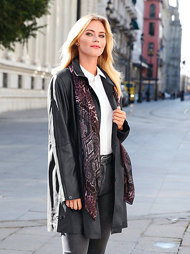 Anna Aura - Leather swinger coat a long-term investment!