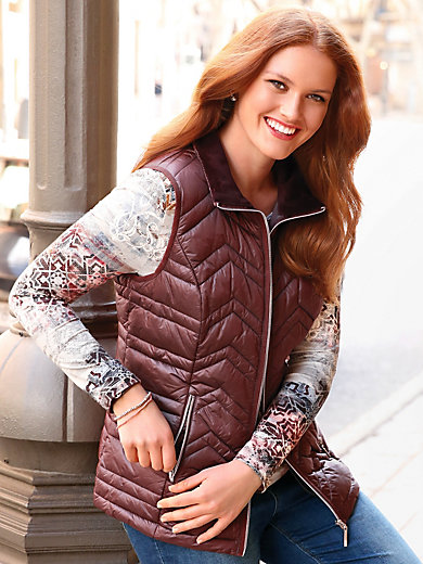 Anna Aura - Quilted gilet with a raised collar