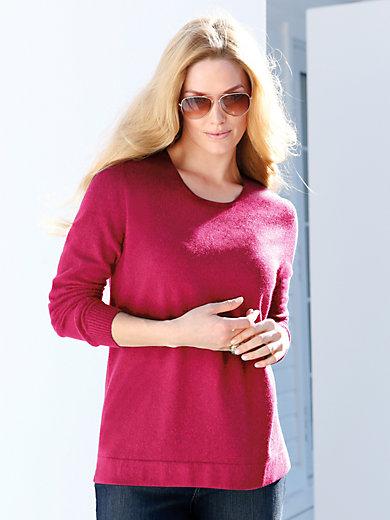 Anna Aura - Round neck jumper in 100% cashmere - design RUBY
